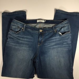 Torrid jeans high rise whiskering mid wash Sz. 20R